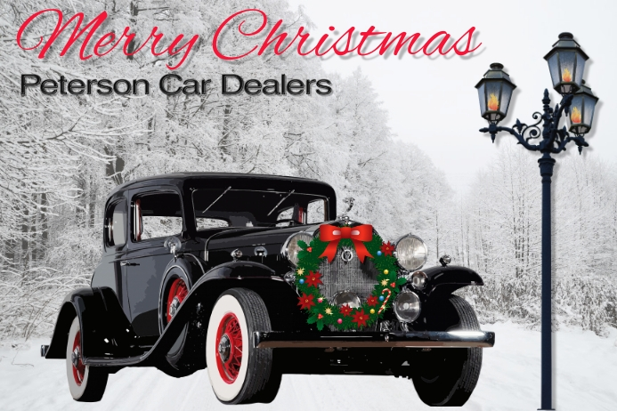christmas/car sales/dealer/corporate/vintage Cartaz template