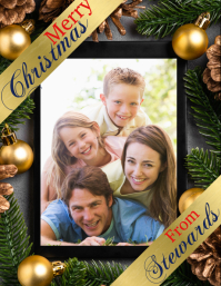christmas card, christmas Flyer (US Letter) template