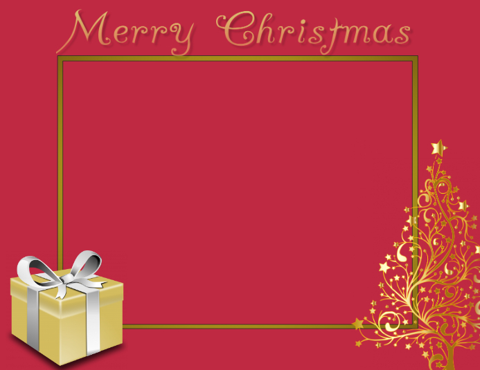 Christmas Card Border Template Postermywall