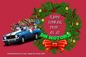 Christmas Card Iphosta template