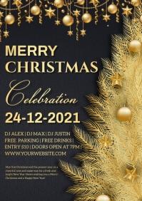 Christmas card A4 template