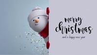 Christmas Card Besigheidskaart template