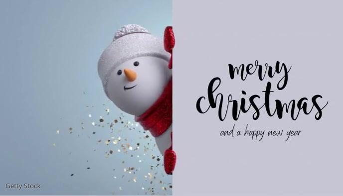 Christmas Card Cartão de visita template