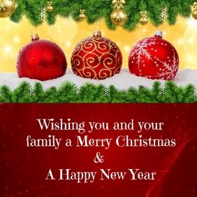 Christmas Card Pos Instagram template