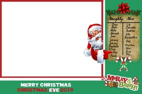Christmas Card Etiket template