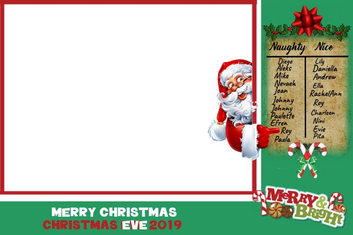 Christmas Card Label template