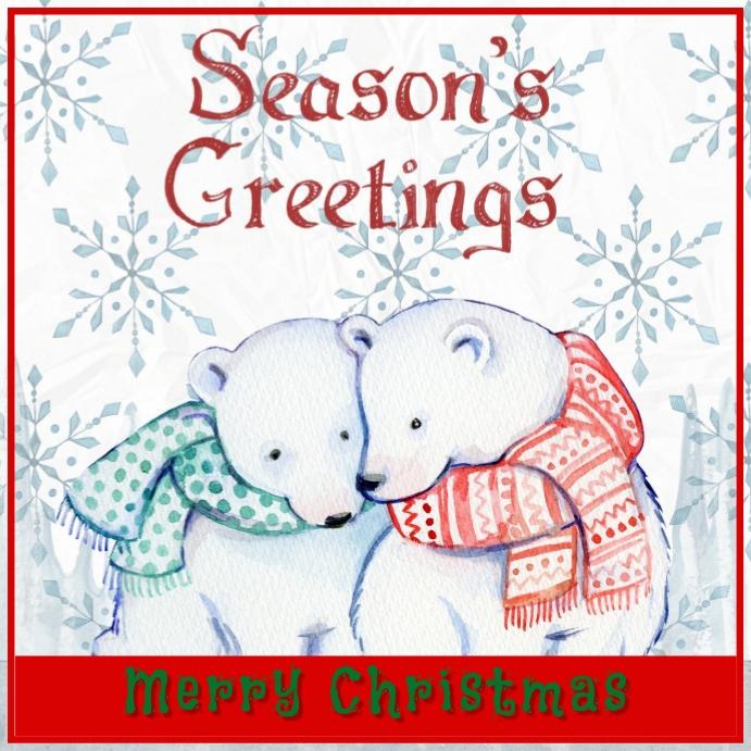 Christmas Card Design Instagram Post template