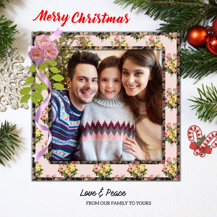 Christmas card Square (1:1) template