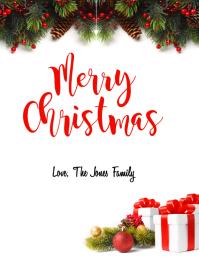 Christmas Card Рекламная листовка (US Letter) template