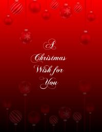 Christmas card flyer tempalte