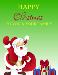 CHRISTMAS CARD FLYER TEMPLATE