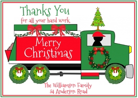 Christmas Card for your Service Workers Postal template