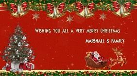 Christmas card greeting online Digitale Vertoning (16:9) template