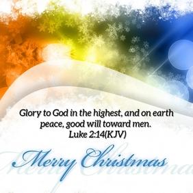 Christmas Card Instagram Template