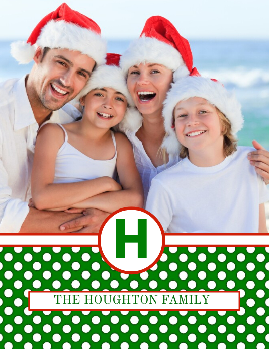 Christmas Card Flyer (Letter pang-US) template