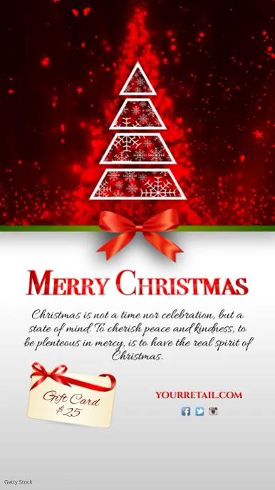 Christmas Card Template Digitale Vertoning (9:16)