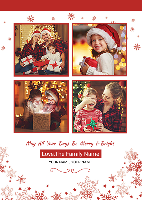 Christmas Card Template A6