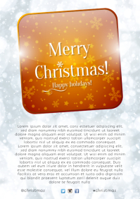 Christmas Card Template A4