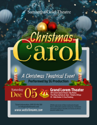 Christmas Carol Flyer Ulotka (US Letter) template
