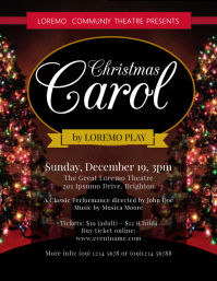Christmas Carol Flyer Template