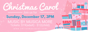 Christmas Carol Invitation Facebook Banner