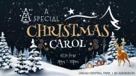 Christmas Carol Invitation Facebook Cover Video