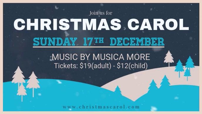 Christmas Carol Invitation Facebook Video Banner