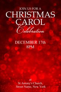 Christmas carol invite Poster template