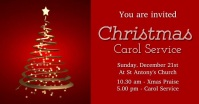 Christmas Carol invite Facebook Shared Image template