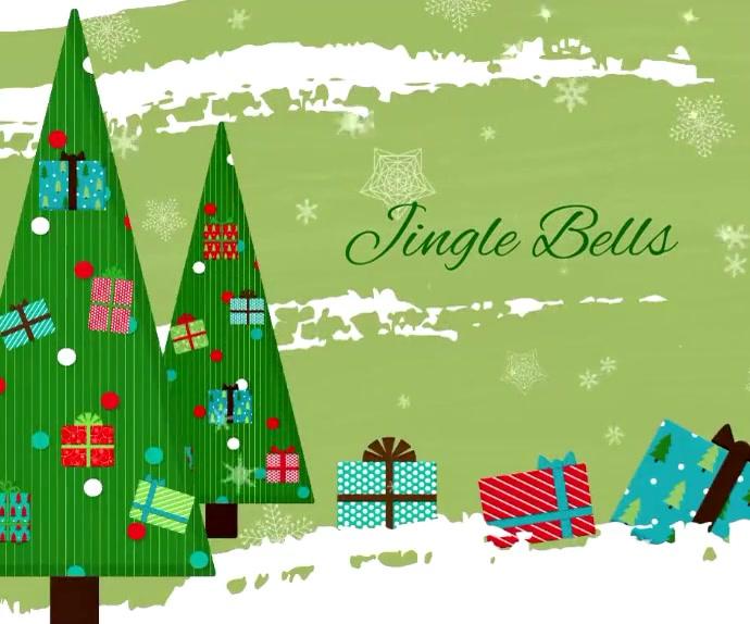 Christmas Carol Jingle Bells Banner Ad 1 Medium na Rektangle template