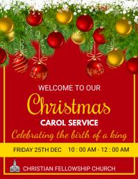 CHRISTMAS CAROL SERVICE Flyer (format US Letter) template