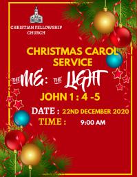 CHRISTMAS CAROL SERVICE Flyer (US Letter) template