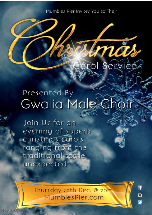 Christmas Carol Service Poster Template Postermywall