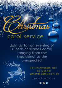 Christmas Carol Service Poster A4 template