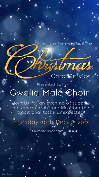 Christmas Carol Service Template Digitalt display (9:16)