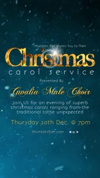 Christmas Carol Service Template