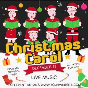 Christmas Carol Square Video