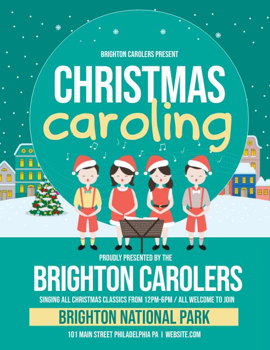Christmas Caroling Images.Christmas Caroling Template Postermywall