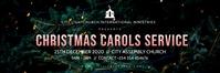 christmas carols church flyer Bannier 2' × 6' template