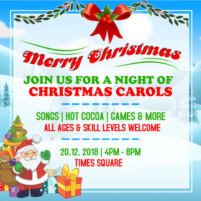 Christmas Carols Invitation Flyer Design