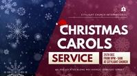 christmas carols service Цифровой дисплей (16 : 9) template