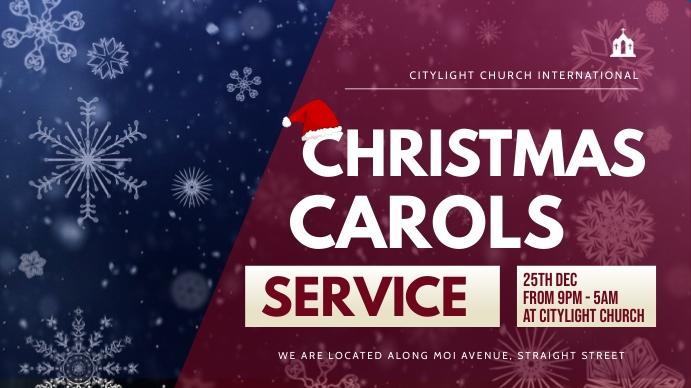 christmas carols service Digitalt display (16:9) template