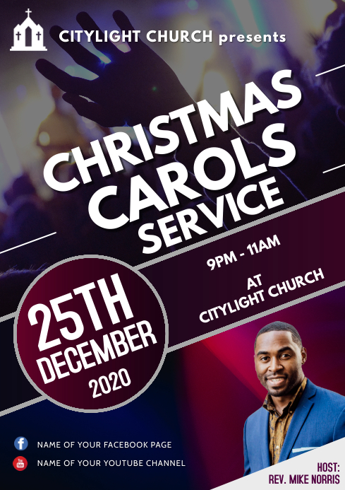 christmas carols service A3 template