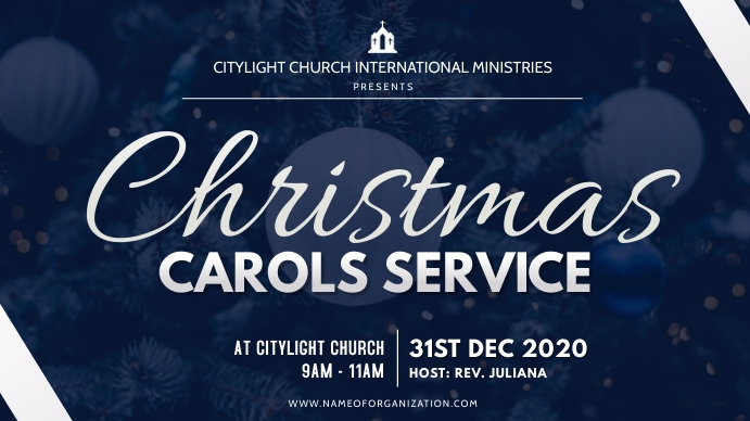 christmas carolsflyer Digitalt display (16:9) template