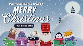 christmas cartoon greeting card