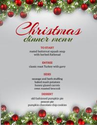christmas celebration dinner menu TEMPLATE Folder (US Letter)