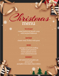 christmas celebration dinner menu TEMPLATE Flyer (US Letter)