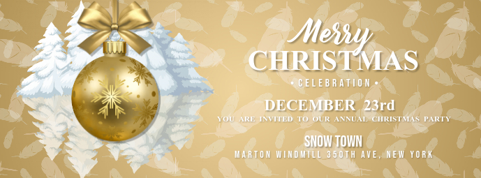 Christmas Celebration Facebook Cover Photo
