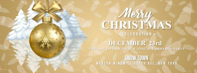 Christmas Celebration Facebook Cover Photo template