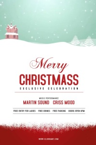 Christmas Celebration Flyer Cartaz template